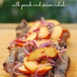 Pork Chop with Peach and Onion Relish