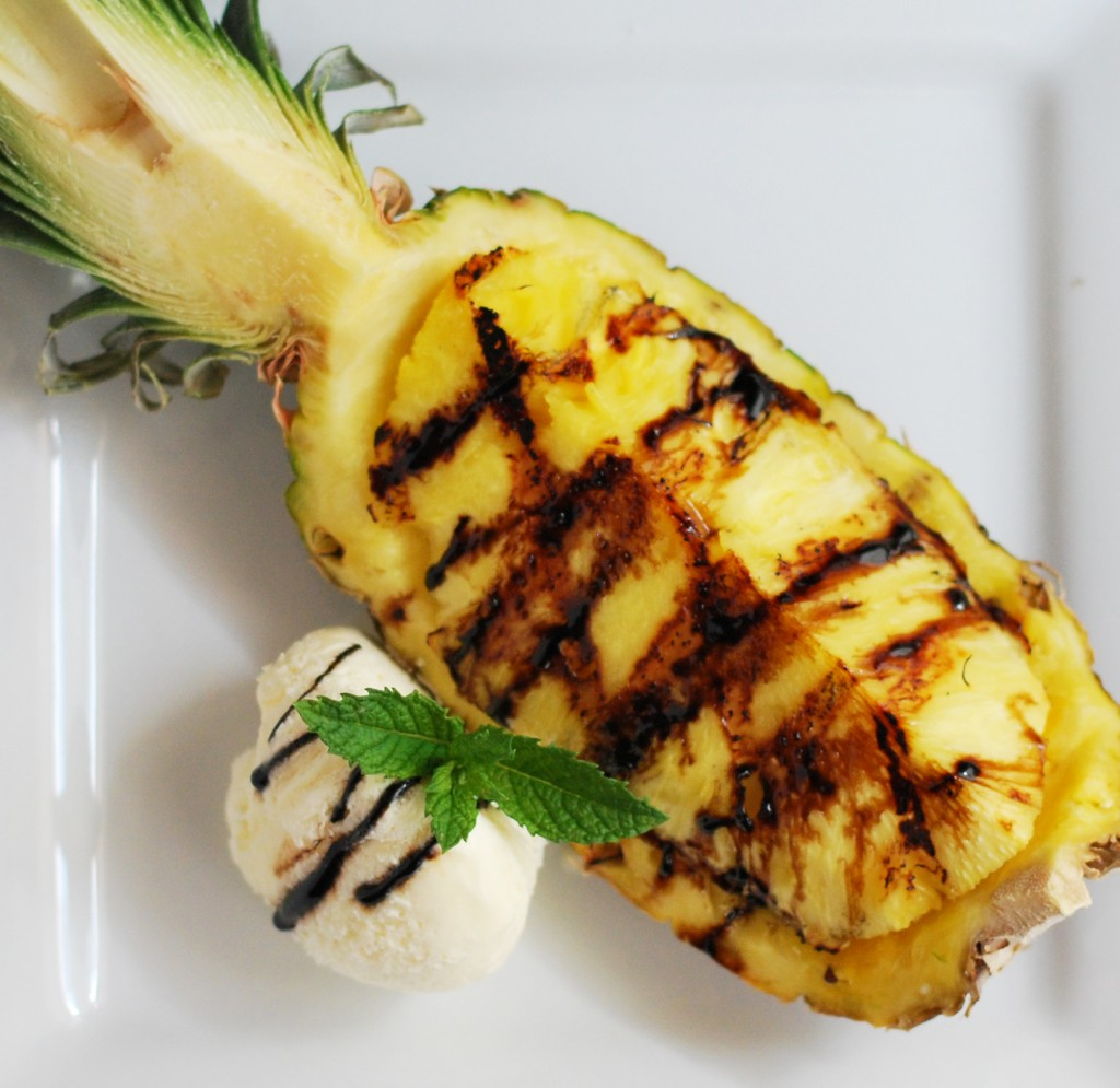 Grilled Pineapple with Balsamic Reduction | Culinary Mamas