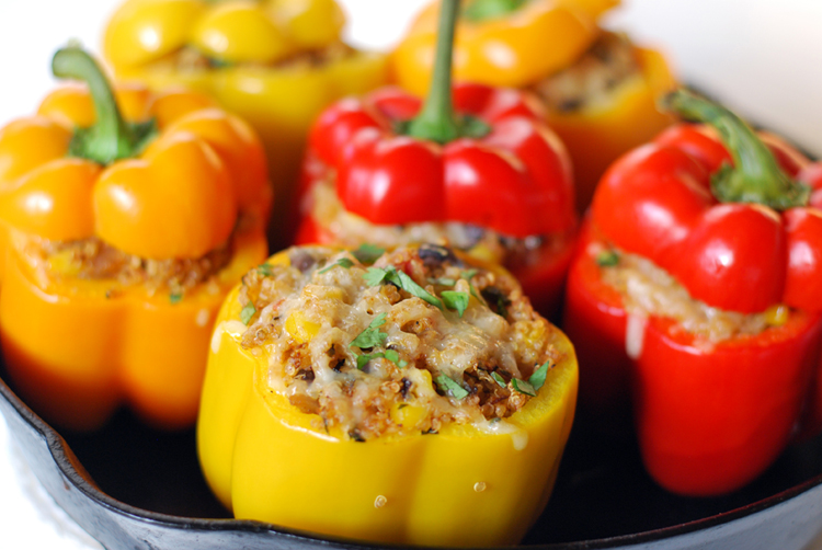 Southwestern Stuffed Quinoa Peppers