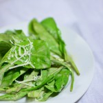 Arugula Pecorino and Red Wine Vinaigrette Salad