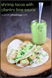 shrimp tacos with lime cilantro sauce pinterest