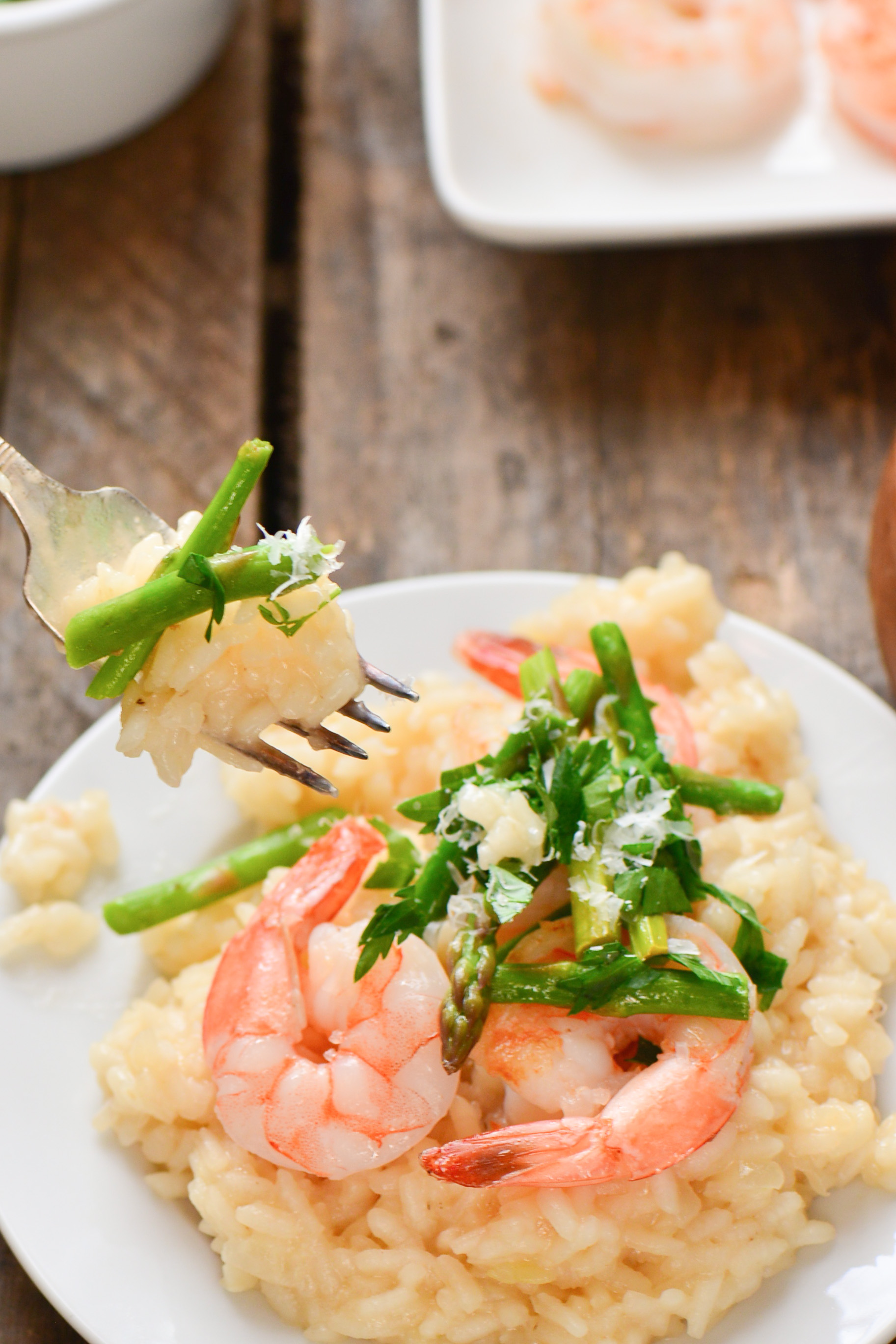 Shrimp and Asparagus Risotto - Culinary Mamas
