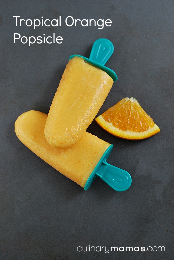 Tropical Orange Popsicles