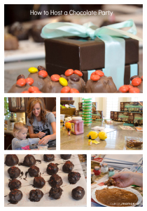 How to Host a Chocolate Party pinterest