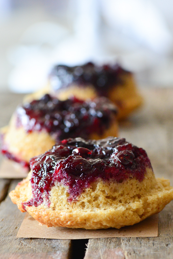 blueberry upside down muffins